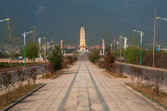 The Chongsheng temple and three pagodas culture tourist area. Stock Photography