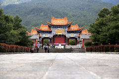 Chongshentempel en Drie Pagoden in Dali Oude stad China Stock Foto's