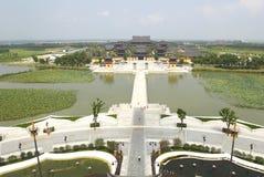 chongyuan俯视寺庙 库存图片