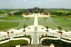 chongyuan俯视寺庙 库存照片