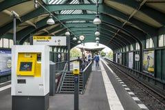Chonhauser Allee Platform in Berlin S-Bahn, Germany Royalty Free Stock Images