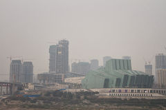 Chonqing city air pollution Stock Photos