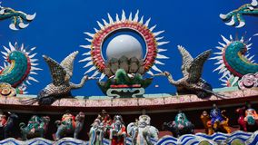 Choo Chay Keong Temple bezog auch, sich da zollfreie Einfuhr Yaps Kongsi ein kleines Gebäude am Schnitt von Lebuh-Kanone und von  stockbild