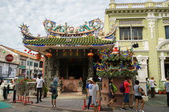 Choo Chay Keong temple, Chinese temple, in George Town, Penang, Malaysia. Stock Image
