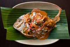 Choo chee fish. Thai food. stock images