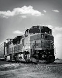 Choo choo train 2. Train on a railroad track royalty free stock images