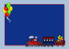 Choo Choo Train Carrying Balloons - Graphic Stock Photo