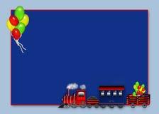 Choo Choo Train Carrying Balloons - graphique Photo stock
