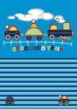 Choo Choo Train. Vector illustration of a cute train embroidery Stock Image