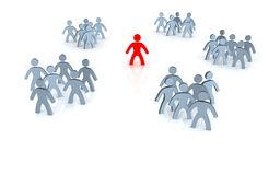 Choose. A person must choose from different groups royalty free illustration