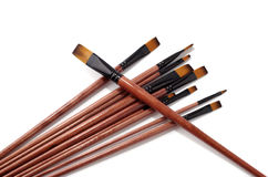 Choose brush for painting Stock Photo