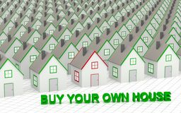 Choose and buy your own house. Stock Image