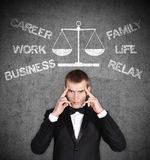 Choose between career and family Stock Image