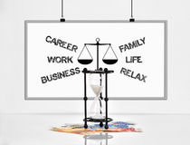 Choose between career and family Stock Photo