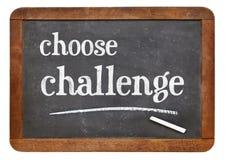 Choose challenge blackboard sign Stock Photography