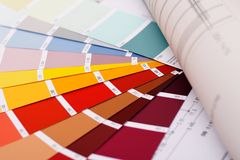 Choose color. From swatch Royalty Free Stock Photo