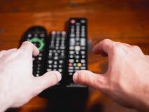 Choose the correct remote control stock image