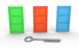 Choose door for success Royalty Free Stock Photography