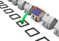 Choose Eco House Royalty Free Stock Images