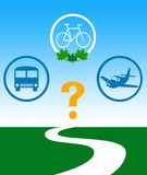 Choose eco transportation Stock Photography