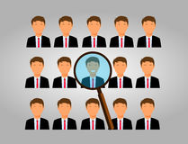 Choose an employee. Recruitment and choosing an employee royalty free illustration