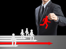 Choose employee standing out of the crowd. Human resources officer choose employee standing out of the crowd. Leadership concept Stock Photo