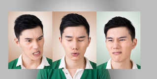 Choose a expression of face royalty free stock photography