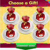 Choose a gift win a prize Stock Image