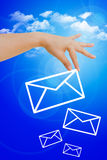 Choose good mail Royalty Free Stock Photography