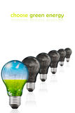 Choose green energy. Choose only green energy for our future Stock Image