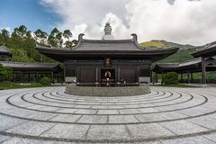 Tsz shan monastery hong kong. Choose the ground have texture royalty free stock photos