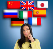 Choose the language Stock Photography