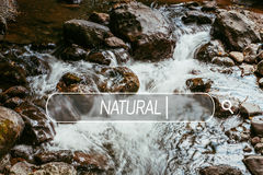 Choose natural. Royalty Free Stock Photography