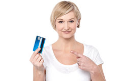 Choose the new gold credit card. stock photography