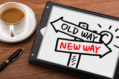 Choose new way concept Royalty Free Stock Image