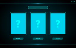 Free Choose One Card,Game Ui Interface Hud Abstract Technology Design Stock Photos - 123581663