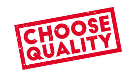 Choose Quality rubber stamp Stock Photography