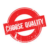 Choose Quality rubber stamp Stock Image
