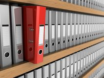 Choose red binder folder Royalty Free Stock Images