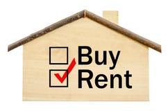 Choose rent home written concept. Stock Photos