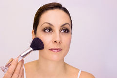 Choose the right brush for blush Royalty Free Stock Image