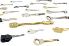 Choose the right key (isolated) Stock Images