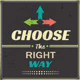 Choose the Right Way Stock Image