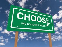 Choose road sign Stock Images