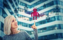 Choose robot stock photo