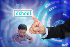 Choose school for child Stock Photo