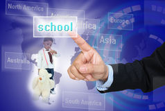 Choose school for child Royalty Free Stock Images