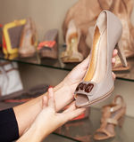 Choose The Shoes Royalty Free Stock Images