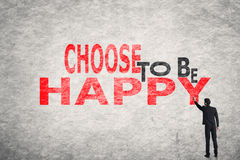 Choose to be Happy Stock Image