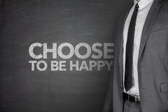 Choose to be happy on blackboard Royalty Free Stock Images